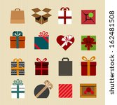 color gift boxes icons... | Shutterstock .eps vector #162481508