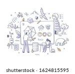 big data technology in ecology. ... | Shutterstock .eps vector #1624815595