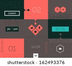 flat design ui mobile abstract...