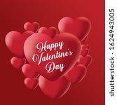 valentines day sale background... | Shutterstock .eps vector #1624943005