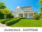 big custom made luxury house... | Shutterstock . vector #162495668