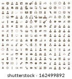 vector set of icon. business ... | Shutterstock .eps vector #162499892