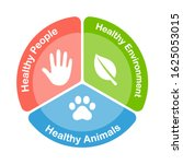 one health infographic diagram. ... | Shutterstock .eps vector #1625053015