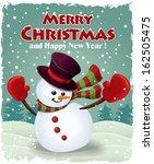 vintage christmas poster design ... | Shutterstock .eps vector #162505475