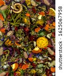 A Colorful Closeup Of Dried...
