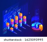 population growth by quarter.... | Shutterstock .eps vector #1625093995