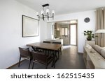 clean and elegant home interior.... | Shutterstock . vector #162515435
