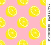 vector pattern with lemon on... | Shutterstock .eps vector #1625167912