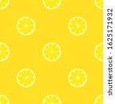 seamless pattern with lemon on... | Shutterstock .eps vector #1625171932