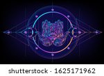 sacred geometry and boo symbol... | Shutterstock .eps vector #1625171962