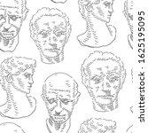 classical man head bust .... | Shutterstock .eps vector #1625195095