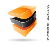 colorful 3d cubical abstract... | Shutterstock .eps vector #162521702
