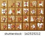advent calendar   Shutterstock .eps vector #162525212