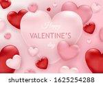 banner for valentine's day sale.... | Shutterstock .eps vector #1625254288