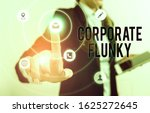 Small photo of Handwriting text Corporate Flunky. Concept meaning someone who works obediently for another demonstrating in company.