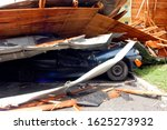 Small photo of storm damage to a car