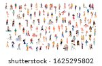 crowd of tiny people wearing...   Shutterstock .eps vector #1625295802