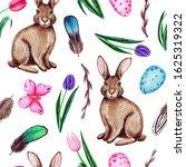 watercolor spring easter...   Shutterstock . vector #1625319322