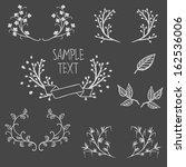 set of symmetrical floral... | Shutterstock .eps vector #162536006