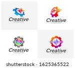 set of health gear creative... | Shutterstock .eps vector #1625365522