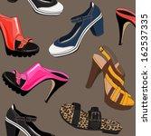 modern female shoes. seamless... | Shutterstock .eps vector #162537335