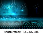technological black and blue... | Shutterstock . vector #162537686