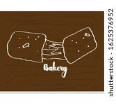 vintage bakery poster with a...   Shutterstock .eps vector #1625376952