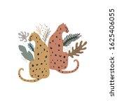 exotic wild animals. leopards... | Shutterstock .eps vector #1625406055