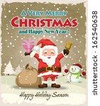 vintage christmas poster design ... | Shutterstock .eps vector #162540638