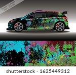 car wrap decal design vector ...   Shutterstock .eps vector #1625449312