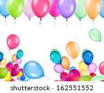 flying balloons isolated on a... | Shutterstock . vector #162551552