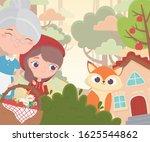 little red riding hood grandma... | Shutterstock .eps vector #1625544862