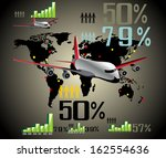 infographic travel elements.... | Shutterstock .eps vector #162554636