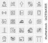 25 universal icons vector...   Shutterstock .eps vector #1625564305
