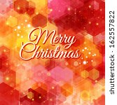 merry christmas card. bright... | Shutterstock . vector #162557822