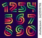 numbers set with arrow inside.... | Shutterstock .eps vector #1625599798
