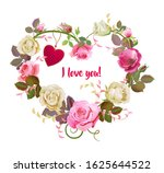 Heart Of Flowers. Valentine\'s...