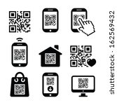 Qr Code On Mobile Or Cell Phon...