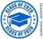 blue sign class of 2020 year ... | Shutterstock .eps vector #1625695792