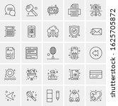 25 universal icons vector... | Shutterstock .eps vector #1625705872