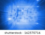 digitally generated glowing... | Shutterstock . vector #162570716