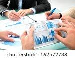 closeup of human hands  over... | Shutterstock . vector #162572738