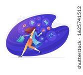 online shopping concept vector... | Shutterstock .eps vector #1625741512