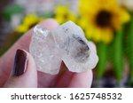 woman holding clear quartz ... | Shutterstock . vector #1625748532
