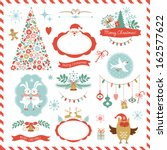 set of christmas graphic... | Shutterstock .eps vector #162577622