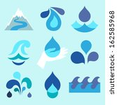 water drop icons and design... | Shutterstock .eps vector #162585968