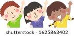 illustration of kids students... | Shutterstock .eps vector #1625863402