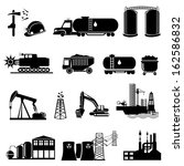 different types of industrial   ... | Shutterstock .eps vector #162586832