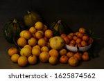 Autumn Still Life With Oranges  ...