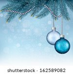 christmas background with balls ... | Shutterstock . vector #162589082
